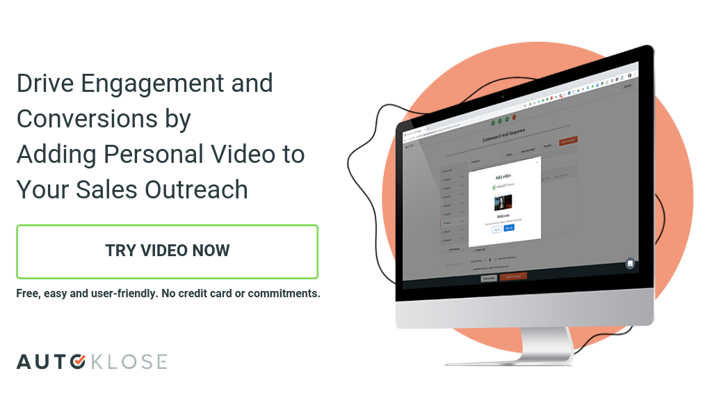 Autoklose + Vidyard = Drive Engagement and Conversions by Adding Personal Video to Your Sales Outreach. Test now.
