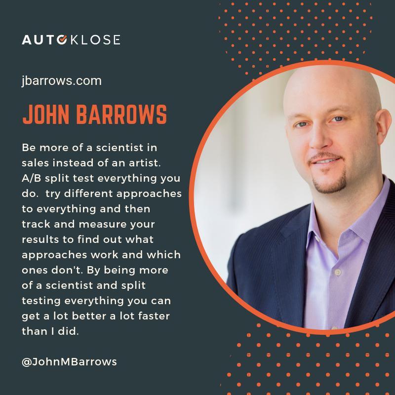 Great Salespeople: John Barrows