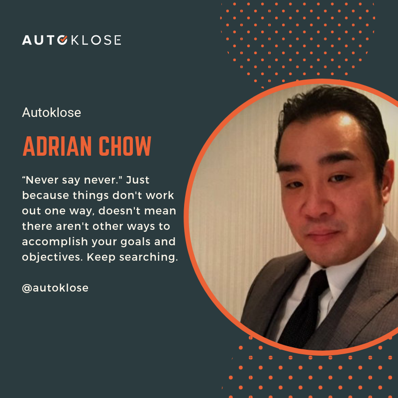 Great Salespeople: Adrian Chow