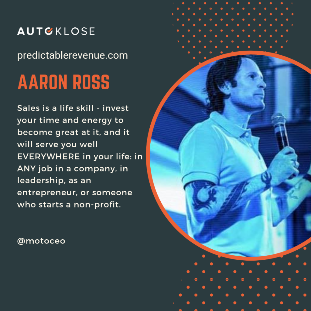 Great Salespeople: Aaron Ross
