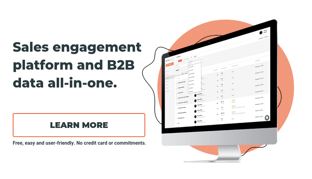 Autoklose Software Sales Engagement Platform And B2B Data All In One.