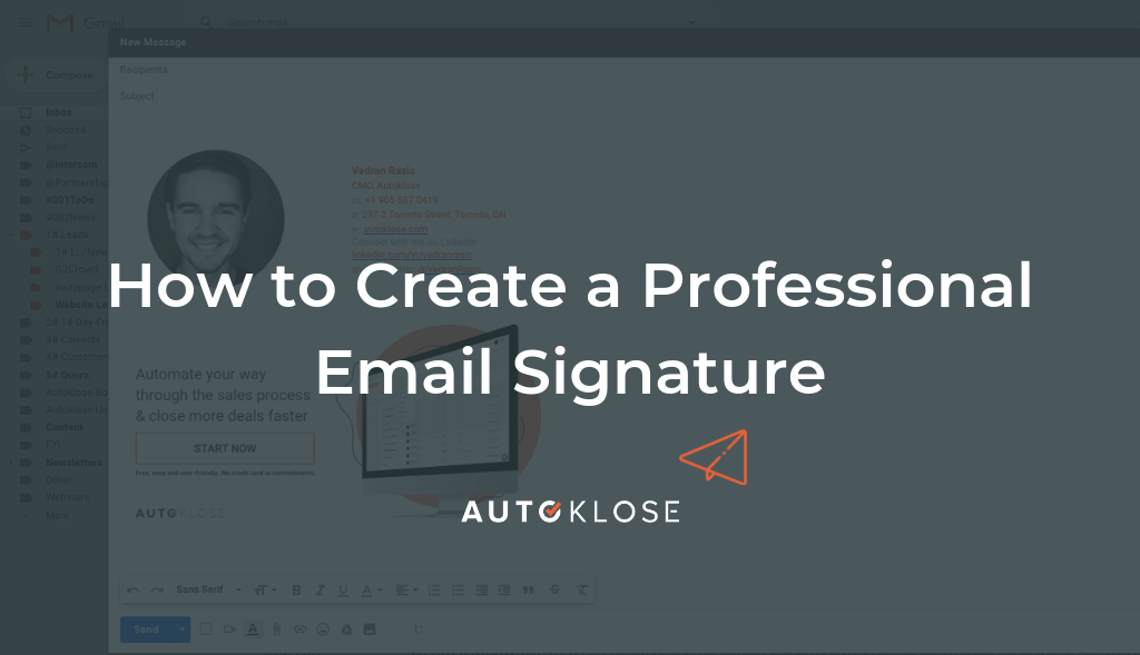How to create a professional email signature by autoklose.com