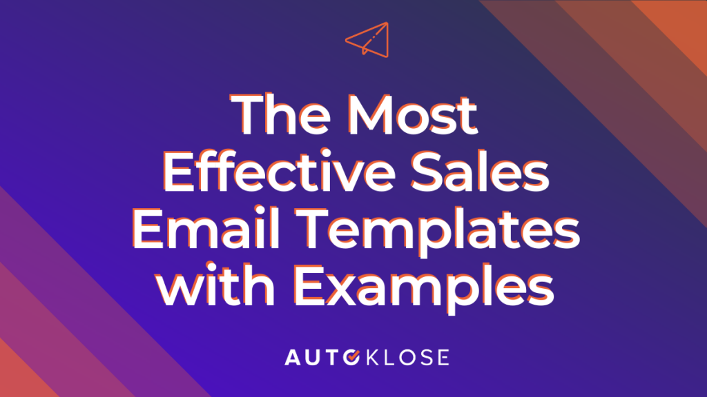 15 Effective Sales Email Templates With Examples I Autoklose