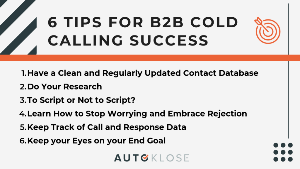 6 Tips for B2B Cold Calling Success Autoklose