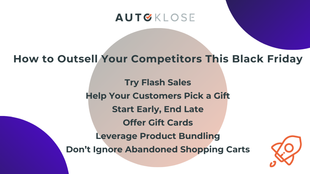 outsell your competitors - black friday