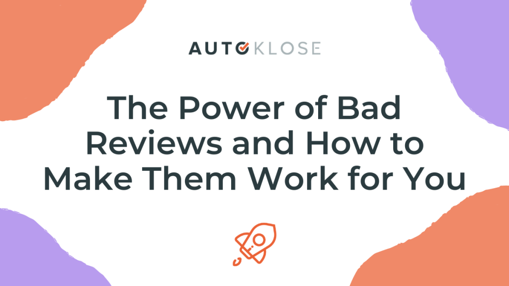 The Power of Bad Reviews