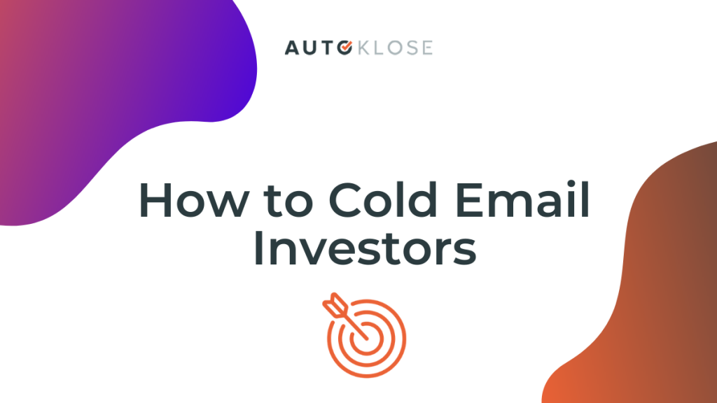 cold email investors