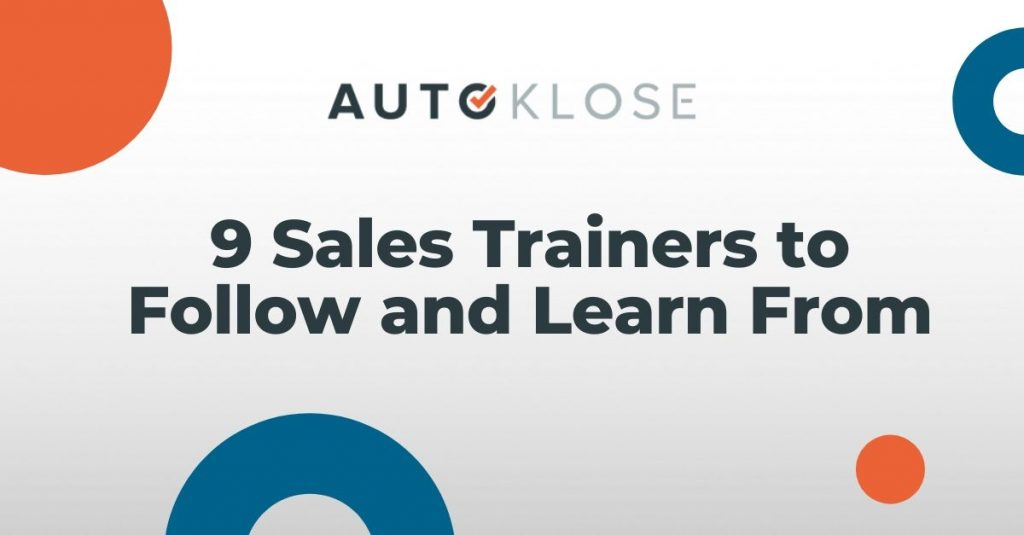Sales Trainers to Follow