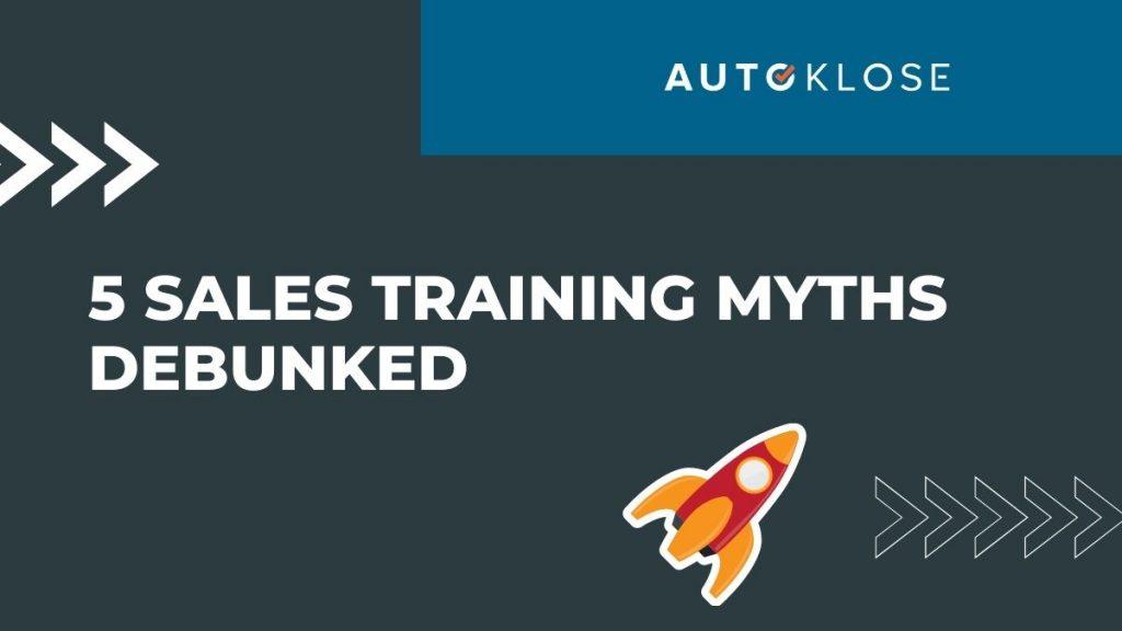 Sales Training Myths