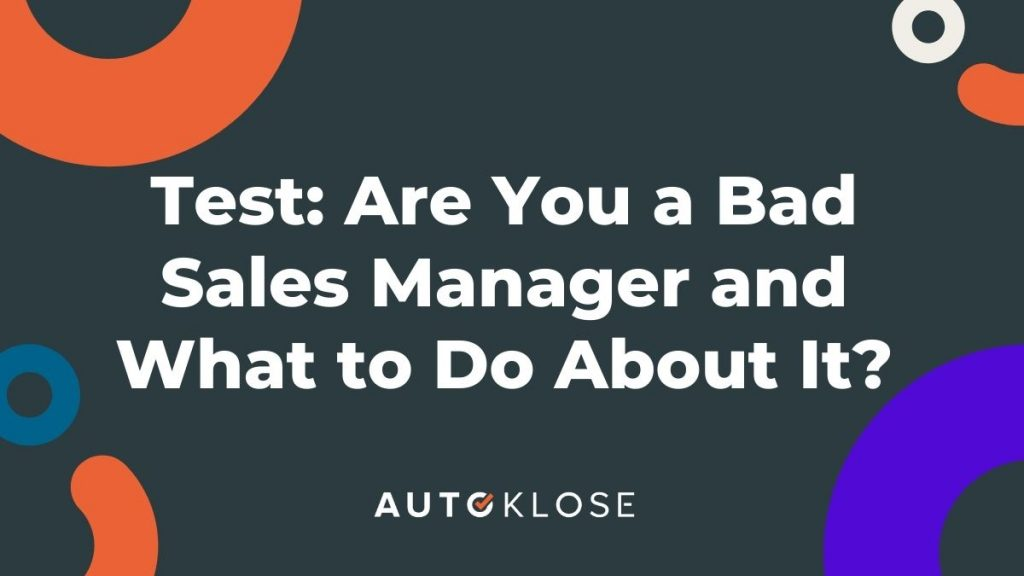 bad sales manager