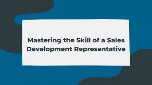 sales development representative