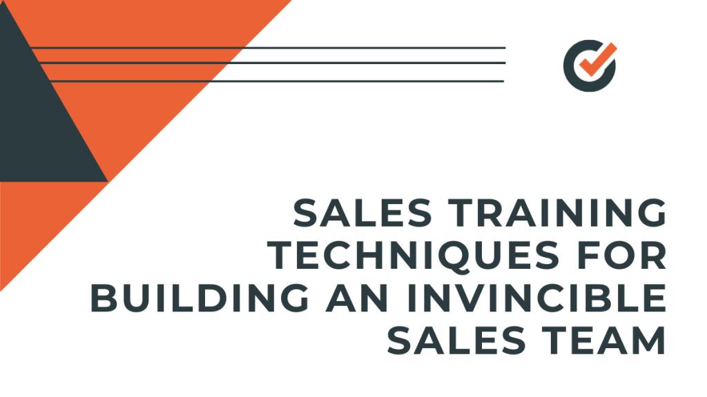 sales training techniques